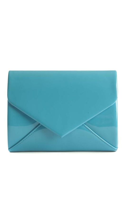 Cicely Blue Envelope Clutch Bag