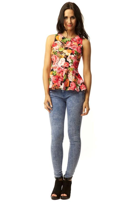 Serena Floral Peplum Top