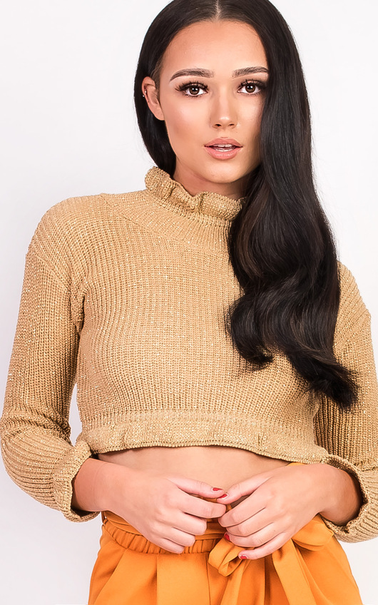 Karolina Knitted Cropped Jumper