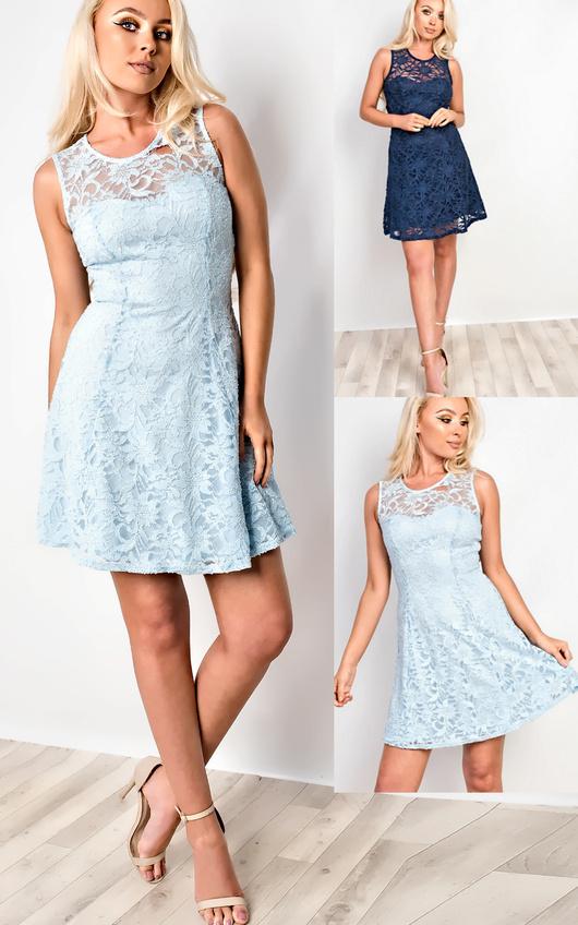 Asher Lace Sequin Skater Dress Thumbnail 81848212e