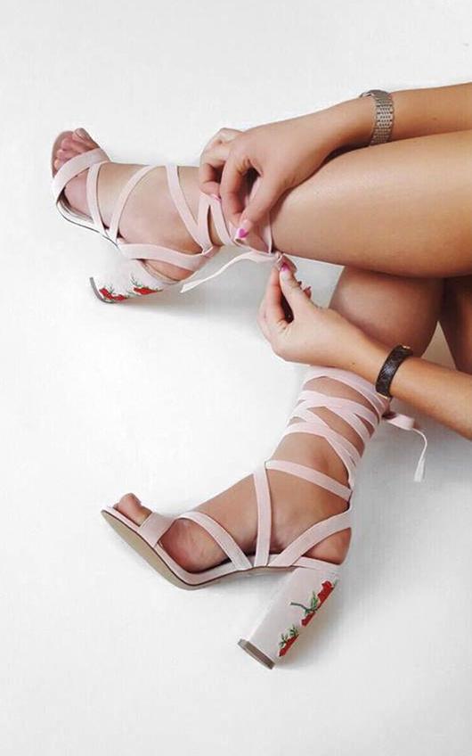 Carlea Faux Suede Strappy Platform Heels