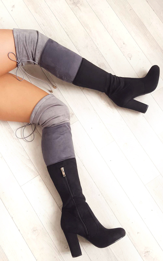Keira Faux Suede Knee High Boots