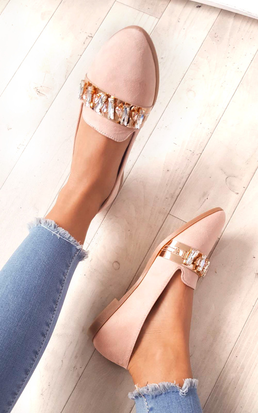 Sherla Embellished Flat Pump Shoe