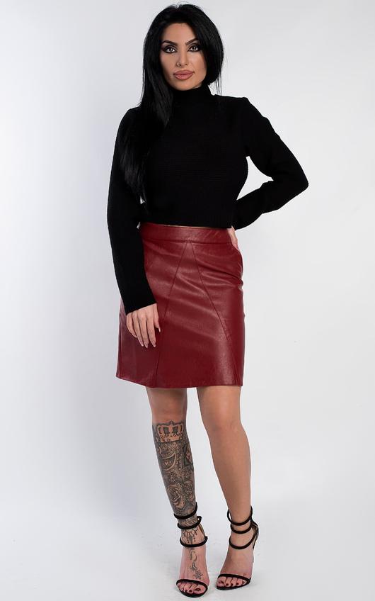 Natasha Faux Leather Skirt