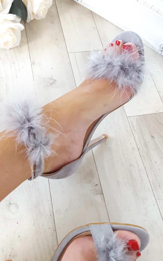 Kirsten Fluffy High Heels