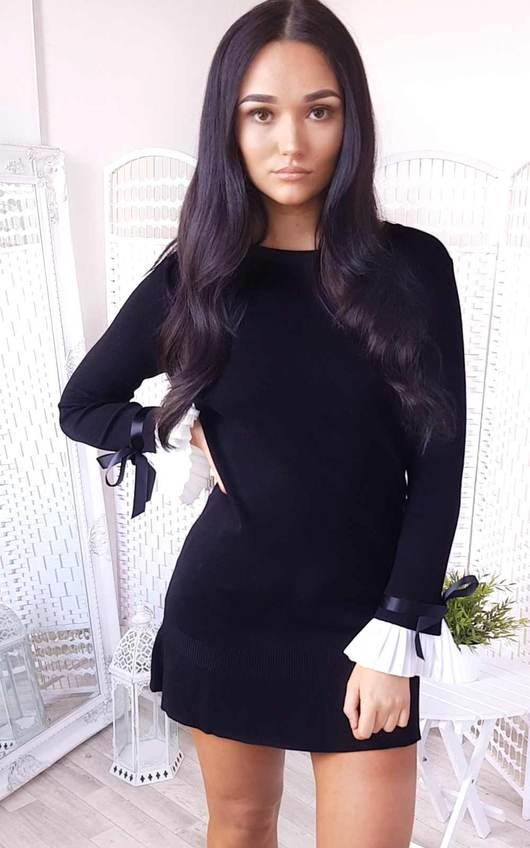 Cecelia Pleated Sleeves Longline Jumper Dress
