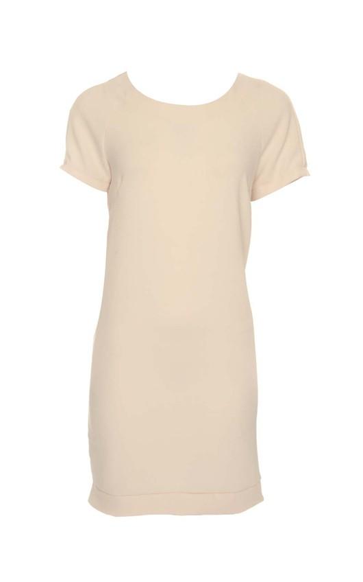 Sophia Peach Shift Dress