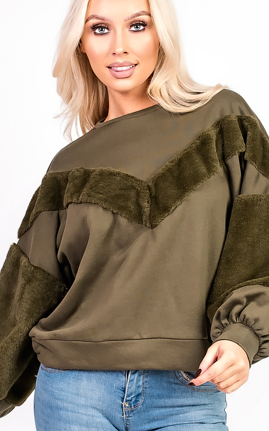 Anya Faux Fur Oversized Jumper