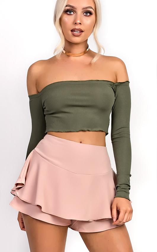 Jenner Frill High Waist Shorts