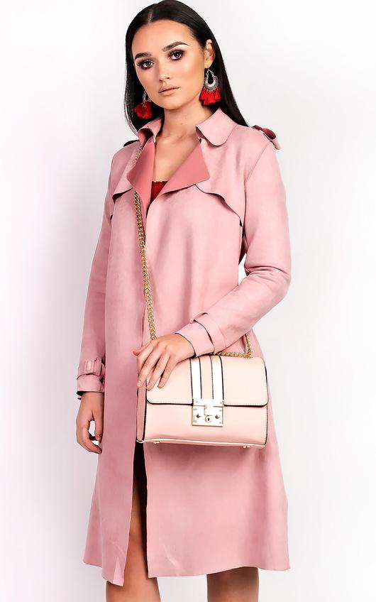 Kilsa Faux Leather Gold Detail Shoulder Bag