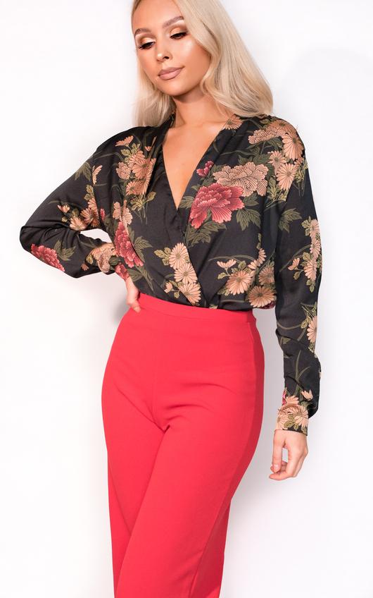 Pia Plunge Floral Bodysuit