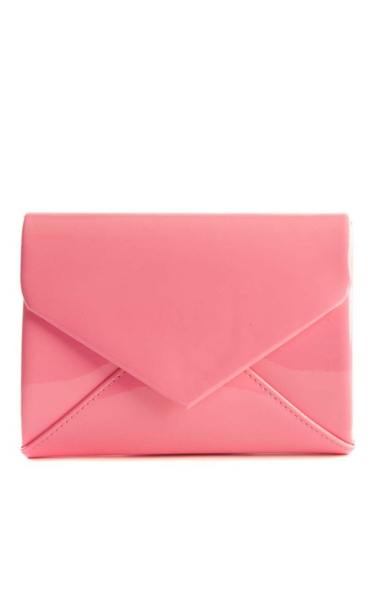 Cicely Neon Pink Envelope Clutch Bag