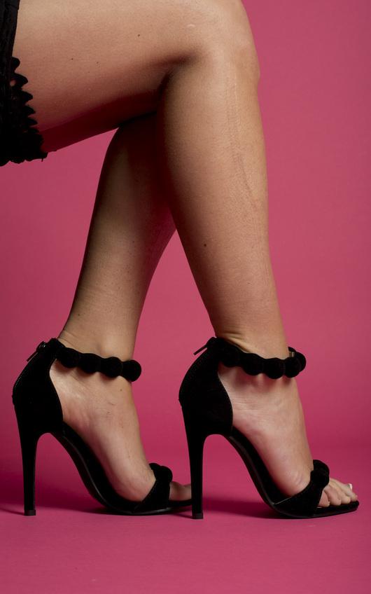 Eliana Suede Effect Stiletto Heels