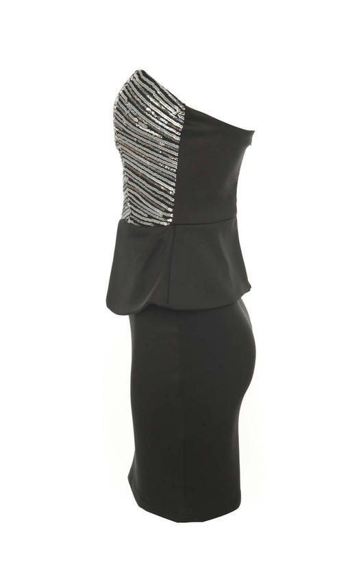 Sybil Sequin Peplum Party Dress