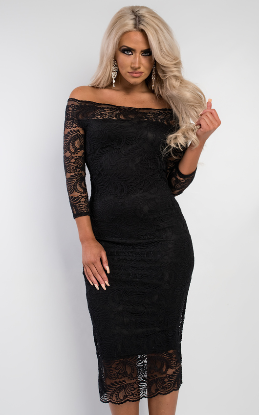 Finn Off Shoulder Lace Dress