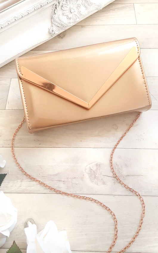 Milla Patent Envelope Clutch Bag