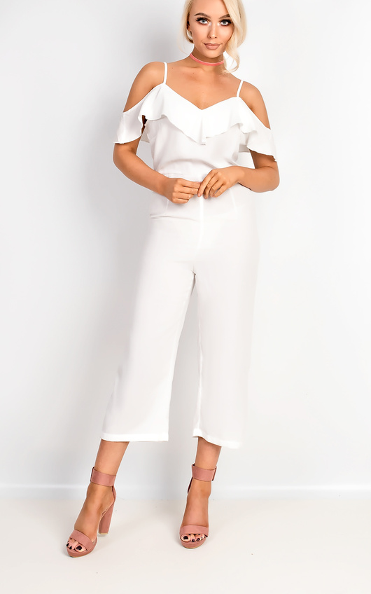 Aleah Cold Shoulder Frill Jumpsuit
