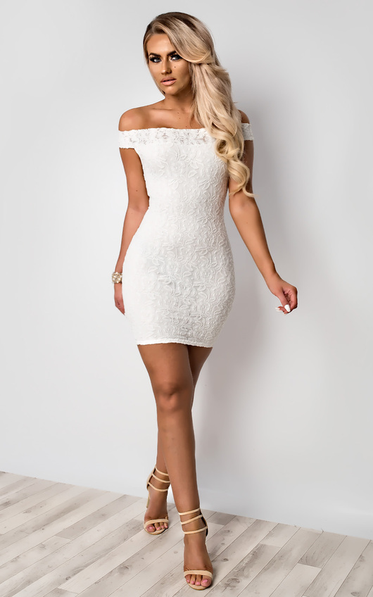 Cali Off Shoulder Lace Dress