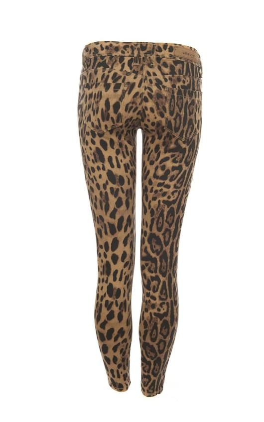 Chia Leopard Print Skinny Jeans