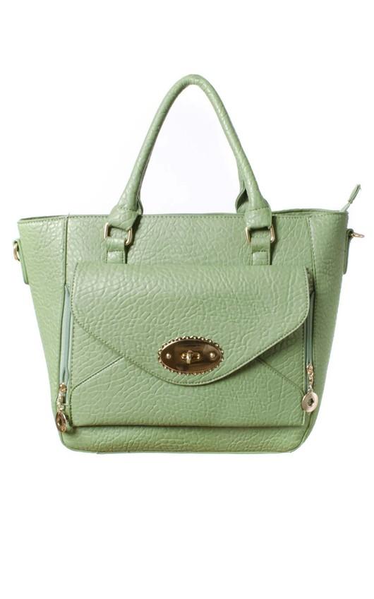 Willow Oversized Envelope Mint Handbag