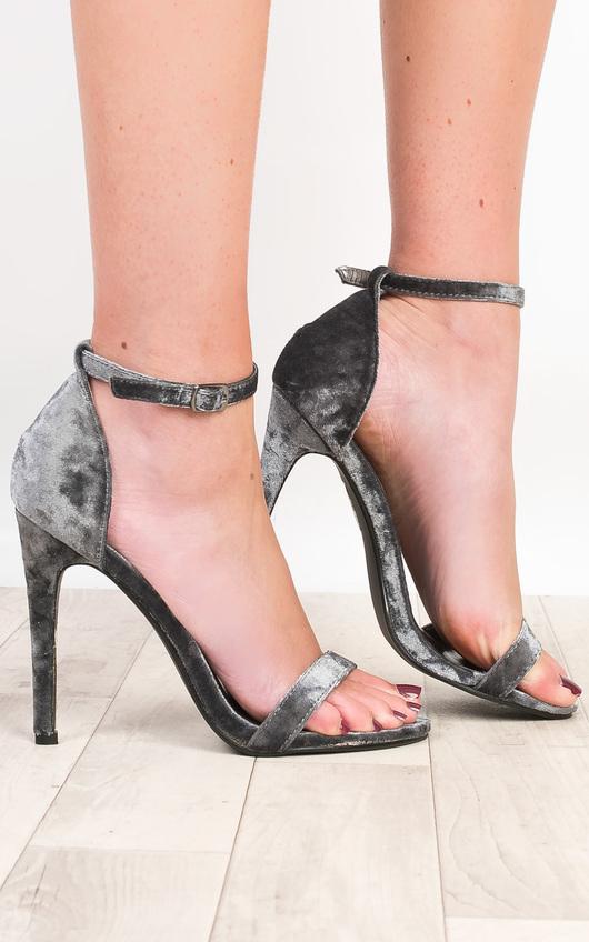 Sierra Crushed Velvet Barely There Heels
