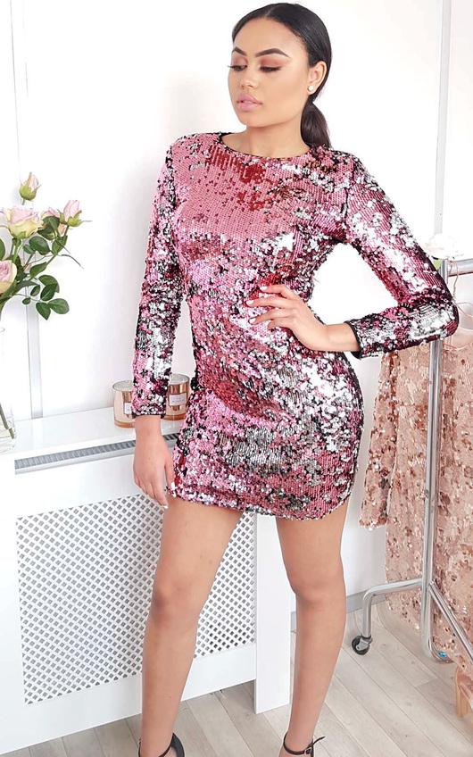 Adele Sequin Bodycon Dress