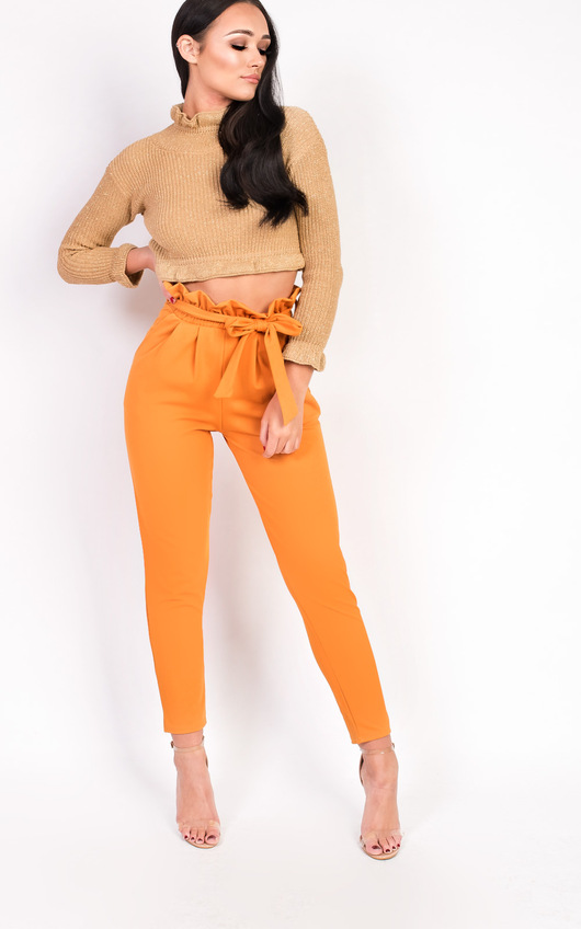 Hayleigh Paperbag Tie Tailored Trousers