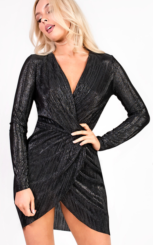Kelcie Long Sleeved Shimmer Dress