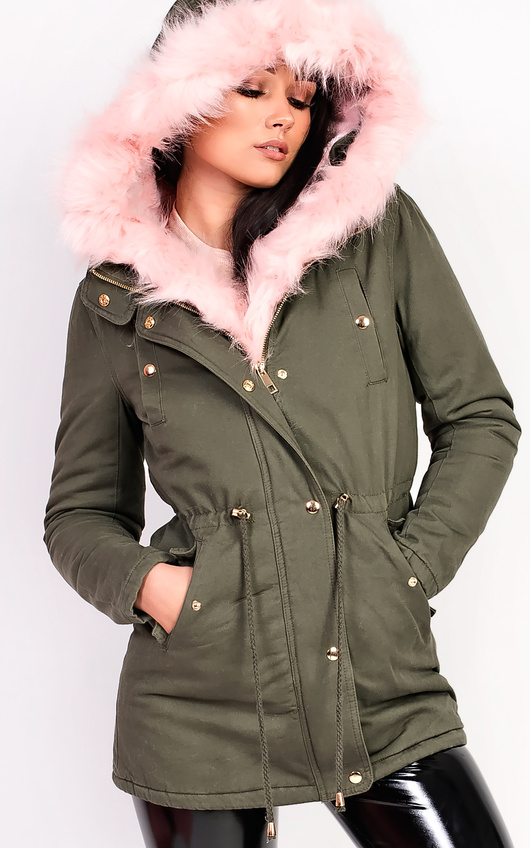 Sylvia Padded Faux Fur Hooded Jacket