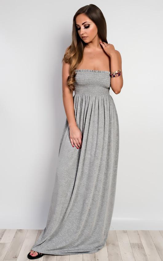 Sabrina Ruched Maxi Dress