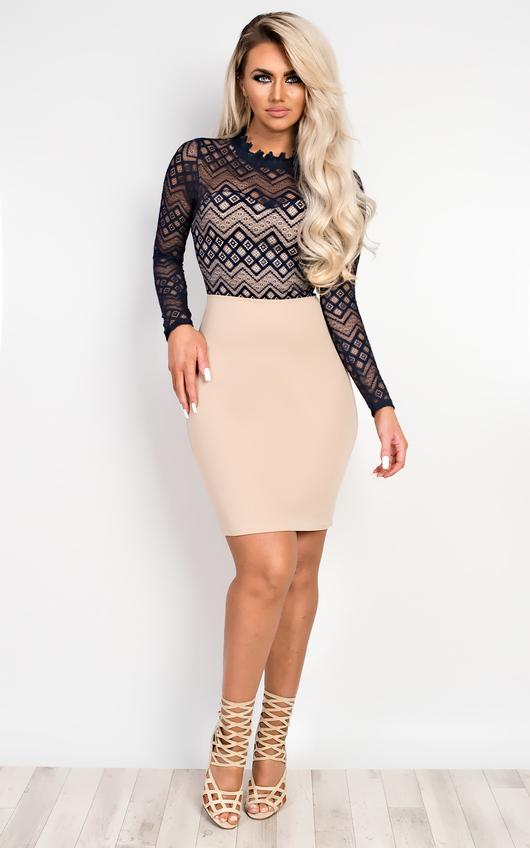 Rene Lace Bodycon Dress