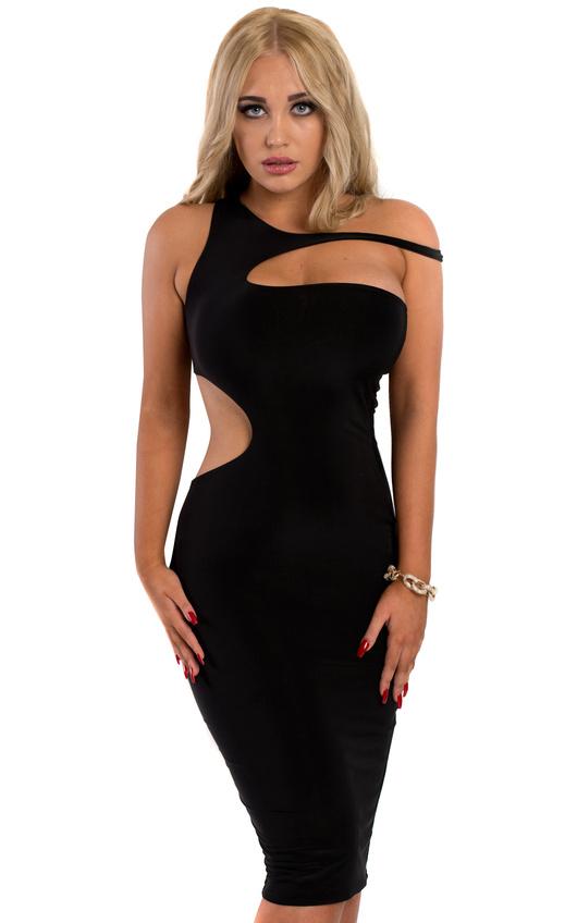 bb144826fe398 Teagan Off Shoulder Dress in Black