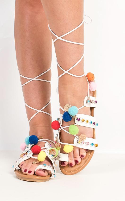 Lopez Pom Pom Sandals
