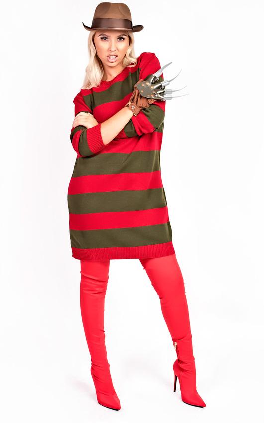Freddie Striped Knitted Jumper Fancy Dress