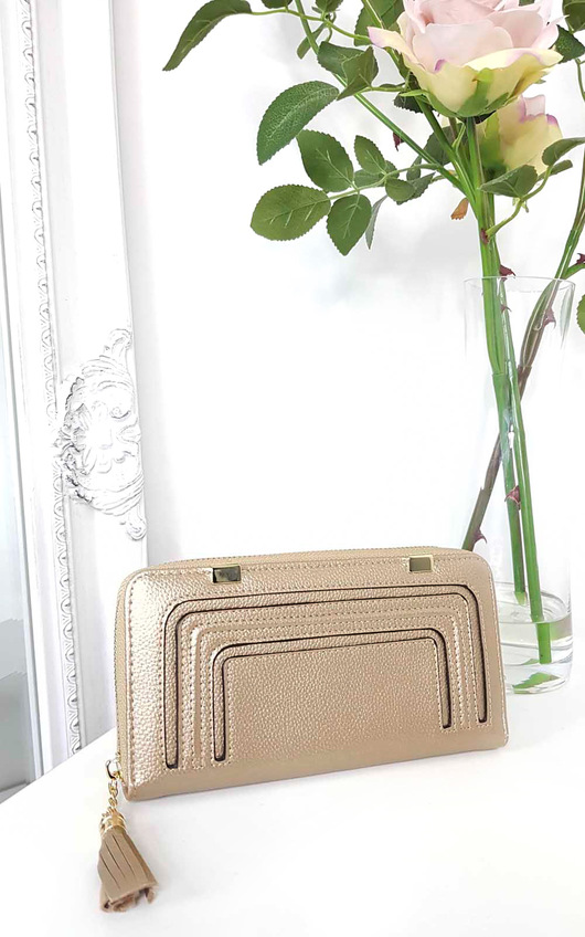 Carly Metallic Style Zip Purse