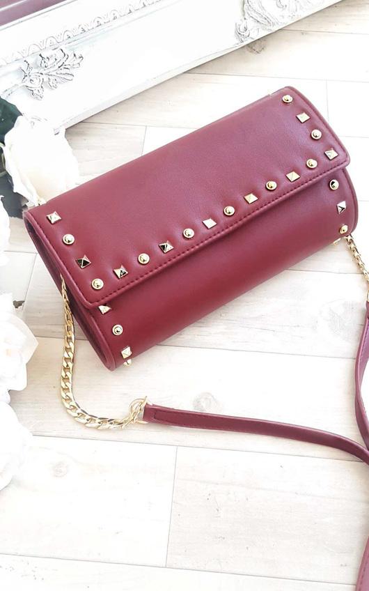Niah Studded Envelope Clutch Bag