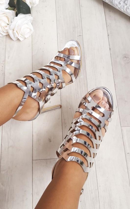 Terri Cut Out Chrome High Heels