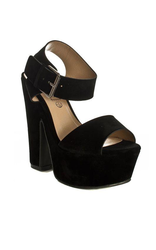 Cecile Black Platform Heels