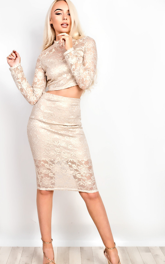 Valery Metallic Lace Co-ord
