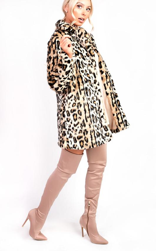 Ula Faux Fur Leopard Coat