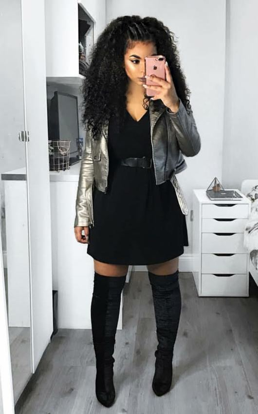 Roxie Faux Leather Metallic Jacket