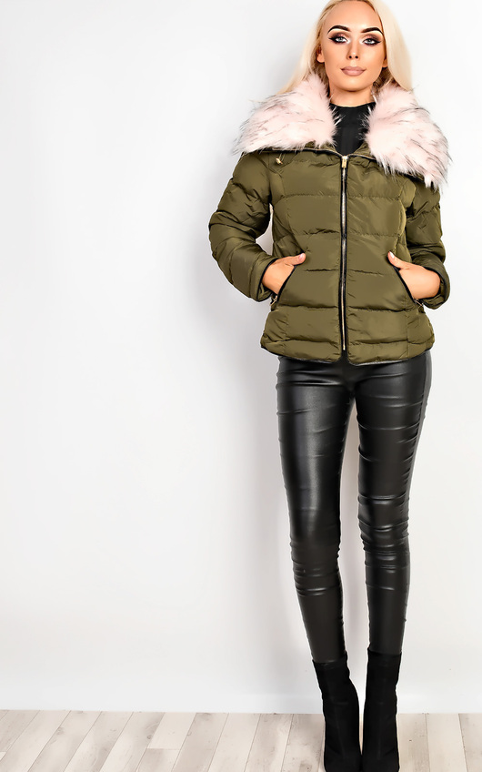 Annika Faux Fur Quilted Jacket