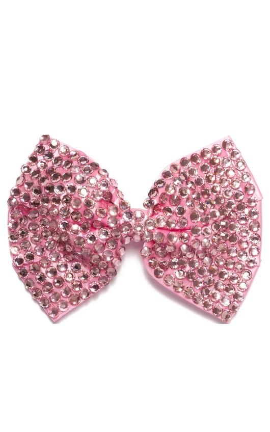 Kalina Baby Pink Gem Hair Bow
