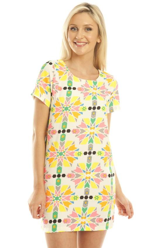 Shelbie Printed Shift Dress