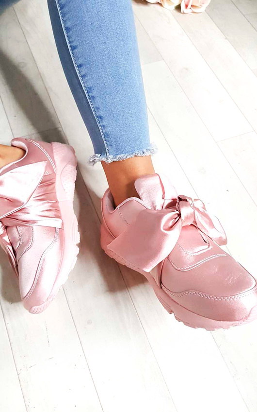 Selise Satin Bow Trainers