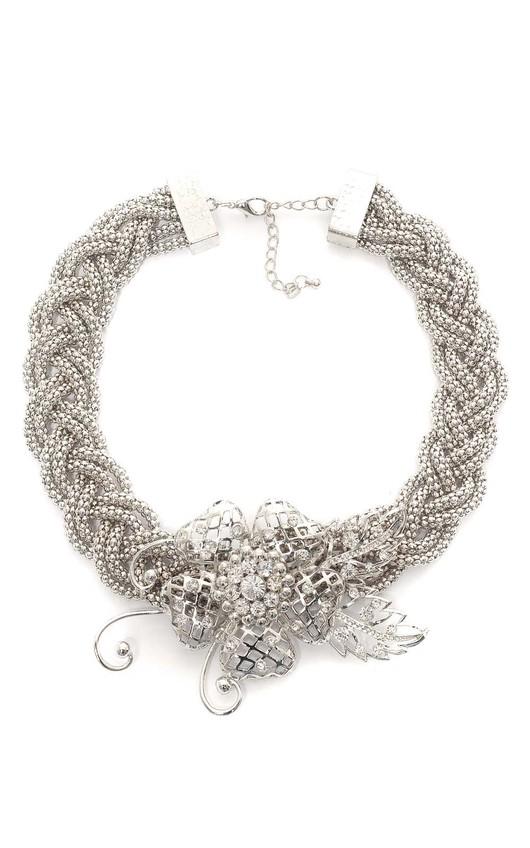 Maresol Flower Thick Chain Chocker Necklace