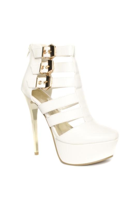 Carly Platform Buckle Heels