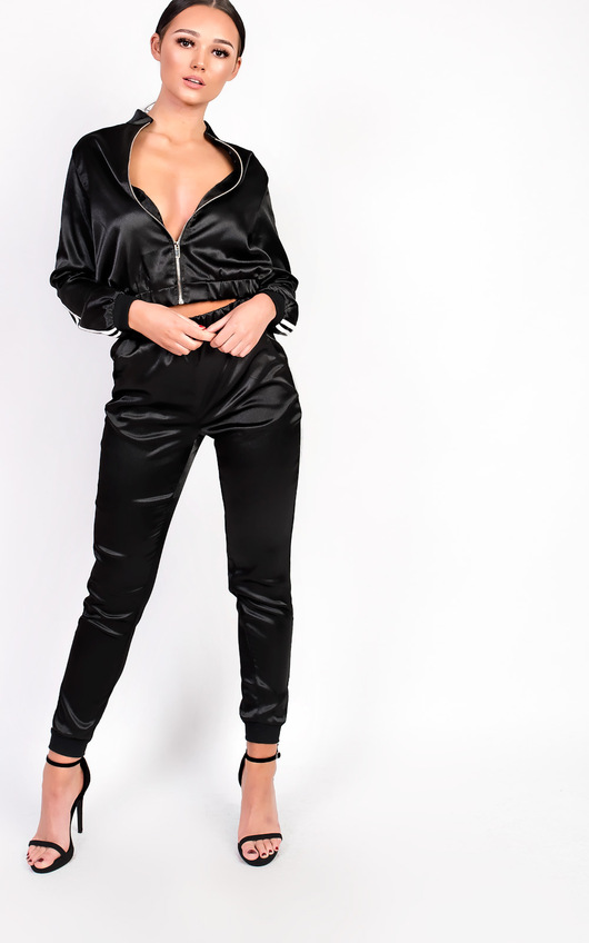 Kourtney Satin Stripe Tracksuit