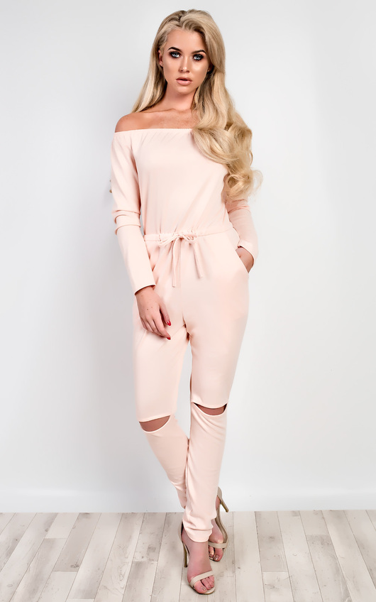 Qiana Off Shoulder Jumpsuit