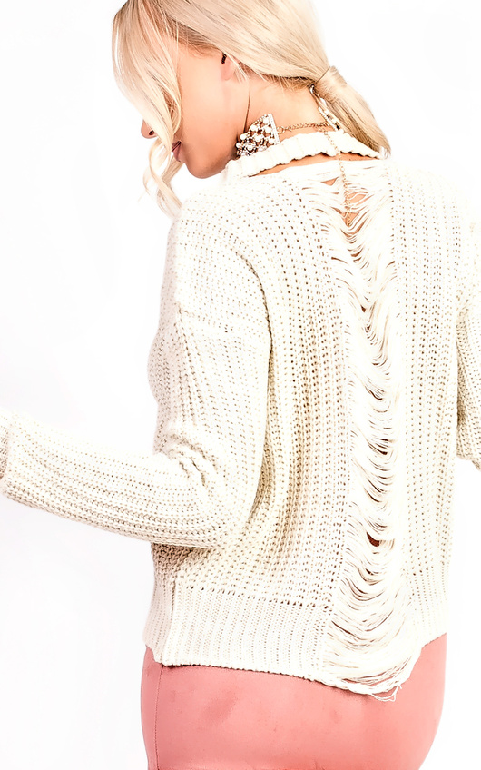 Sara Knitted Distressed Jumper
